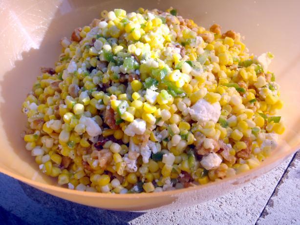 Corn Salad With Feta and Walnuts