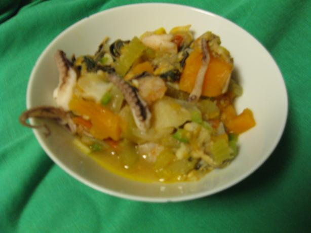 Caribbean-Style Grilled Seafood Soup