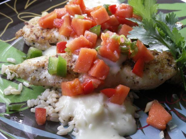 Viv's Pina Colada Chicken With Salsa