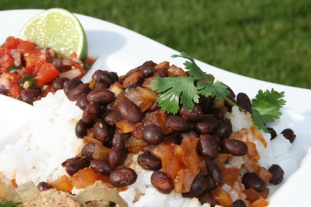 Cuban Black Beans and Rice (Quick)