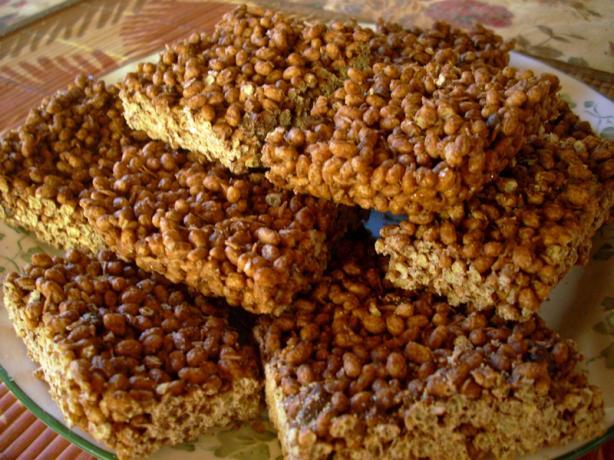 Chocolaty Rice Crispy Squares