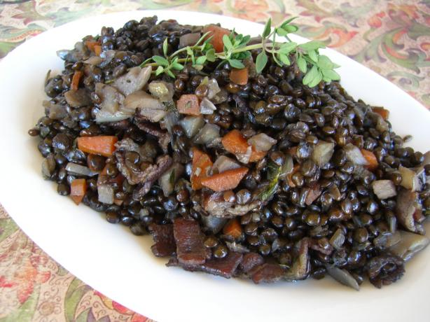 Ragout of Beluga Lentils from the James Beard House