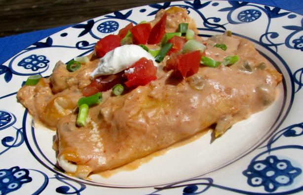 Easy Chicken and Cheese Enchiladas