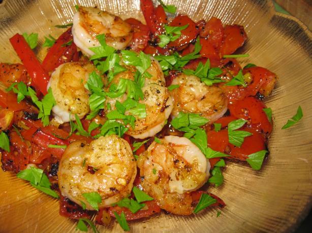 Shrimp & Tunisian Fresh Tomato Relish
