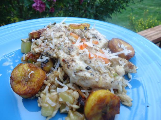 Mojito Chicken With Plantain Fried Rice