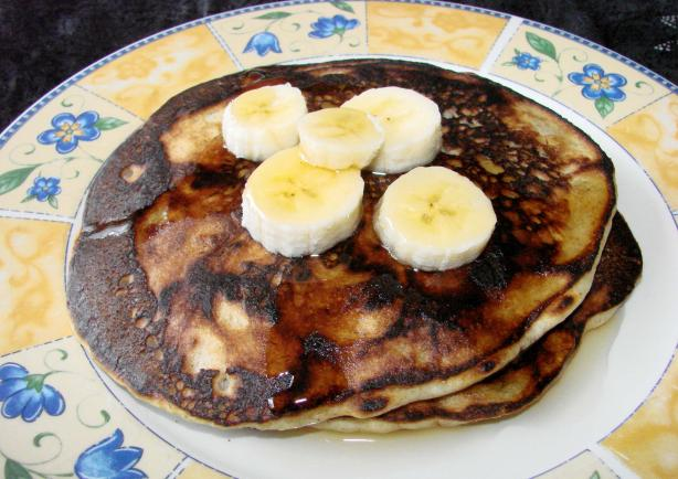 Banana Half-Wheat Pancakes