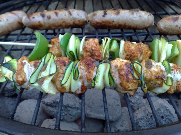 Elegant Chicken Zucchini Skewers