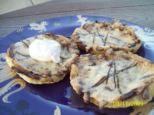 Mushroom and Parmesan Tarts