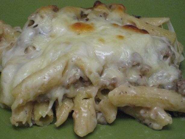 Garlic Sausage Penne Bake