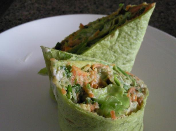 Creamy Avocado and White Bean Wrap