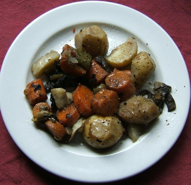 Olive Flavored Veggies With Potatoes