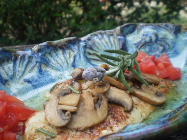 Peppered Petrale Sole With Mushrooms and Lavender