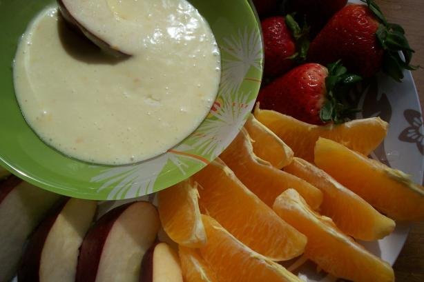 Cream Cheese Orange Sauce for Fruit