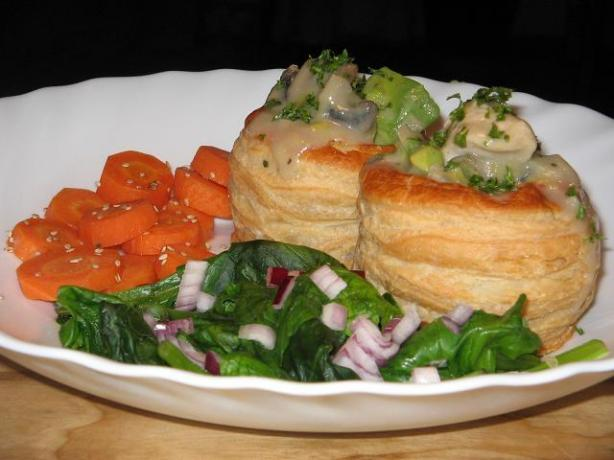 Chicken Avocado and Mushroom Stuffed Vol-Au-Vents