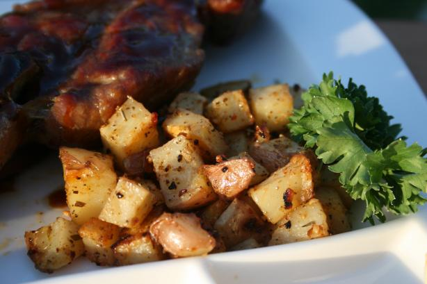 Oven Roasted Barbecue Potatoes