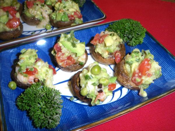 Ceviche Salad Stuffed Mushrooms