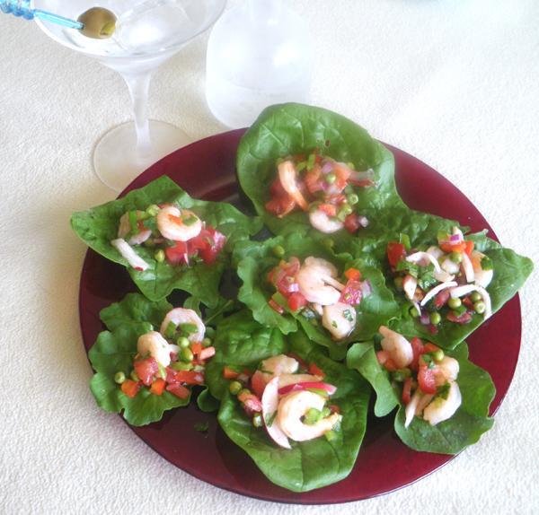 Ceviche Lettuce Wraps