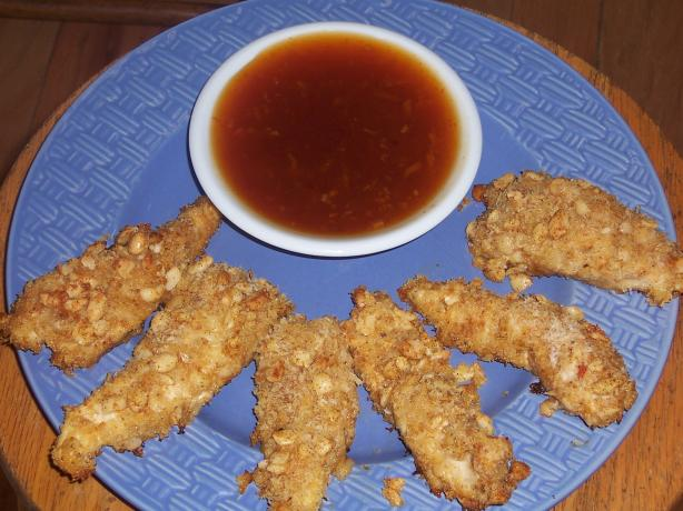 Macadamia Crusted Chicken Tenders With Maui Sunset Sauce