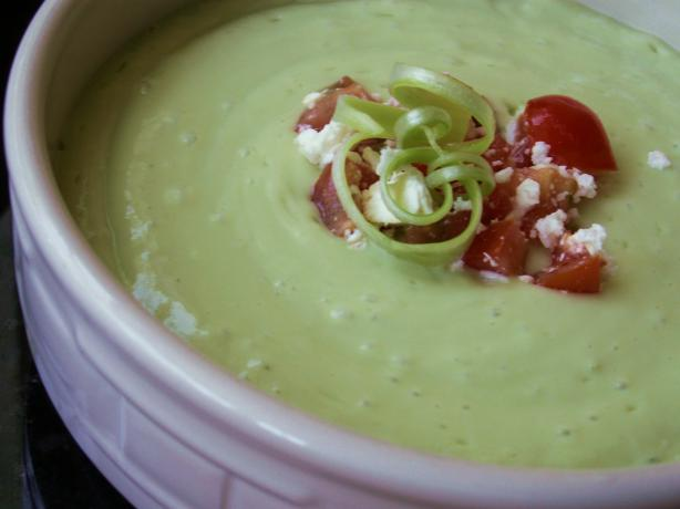 No Cook Avocado Bisque (Rachael Ray)