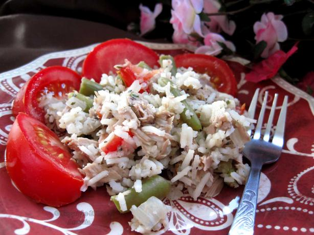 Tuna and Green Beans With Rice