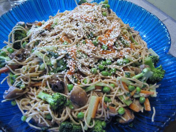 Cool California Sesame Shiitake Noodles