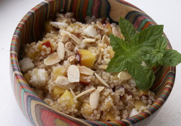 Bulgur Wheat and Peach Salad