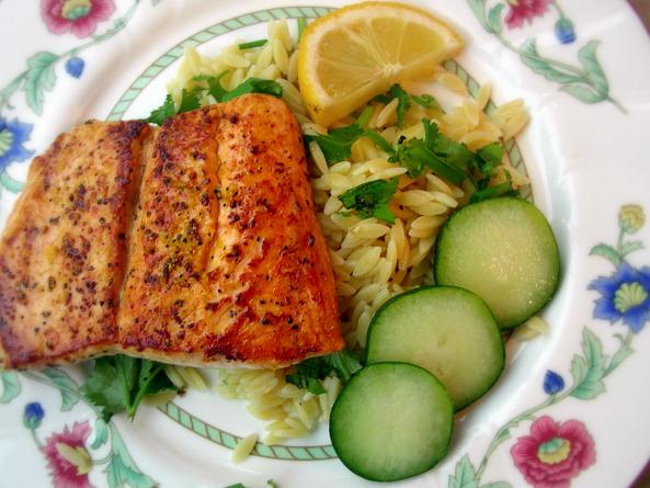 Orzo Salmon Salad