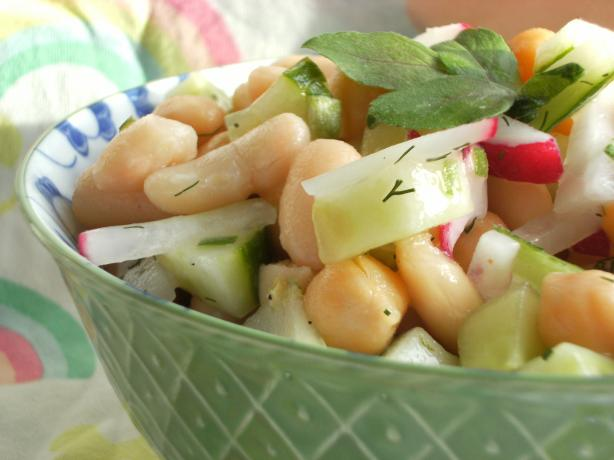 White Bean and Chickpea Salad