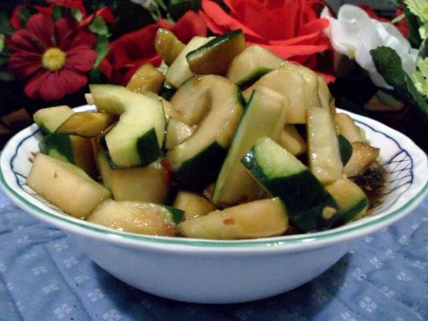 Asian Marinated Cucumbers