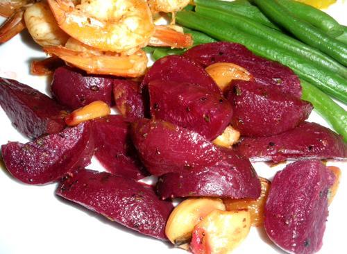 Roasted Beets and Garlic