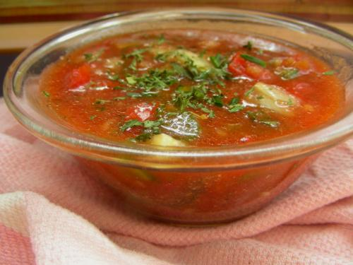 Gazpacho Adapted from Barefoot Contessa