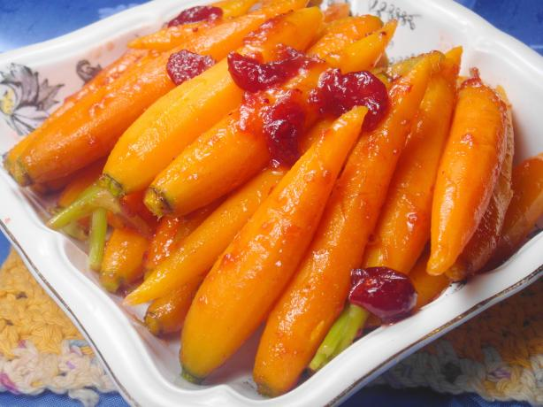 Cranberry Glazed Baby Carrots