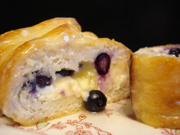 Blueberry Cream Cheese Braided Loaf