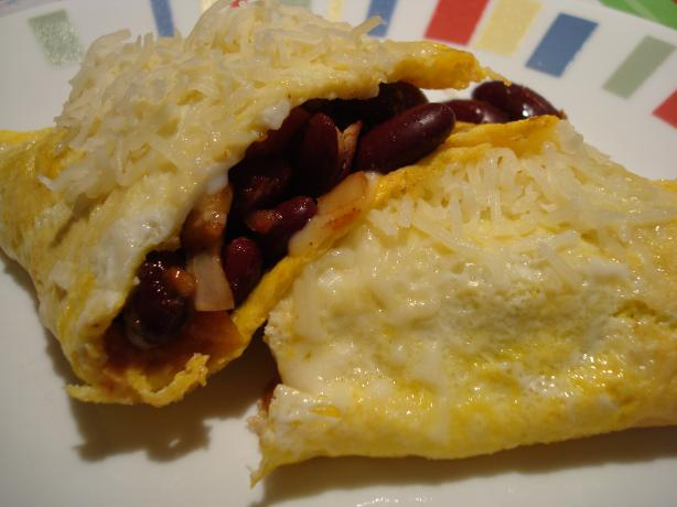 Chili Bean Cheese Omelet