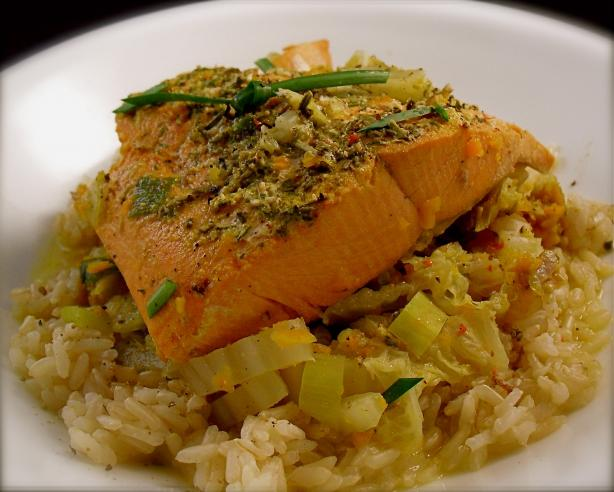 Braised Salmon