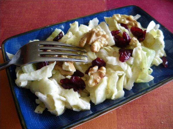 Napa Cucumber Salad With Lemon Rosemary Dressing