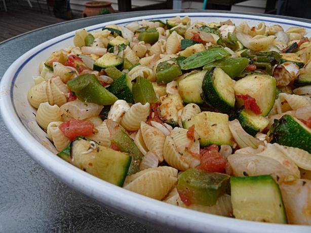 Summer in a Bowl Aka Grilled Veggies Pasta