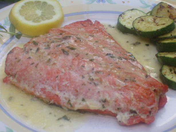 Grilled Sockeye Salmon With Tarragon Butter