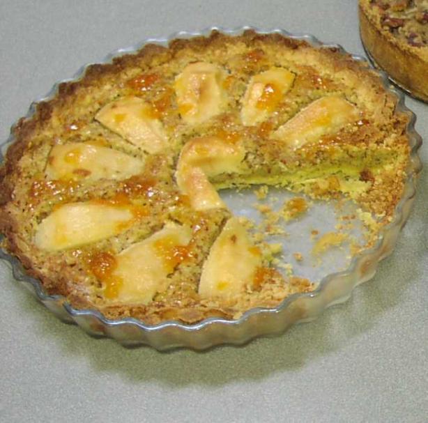 Almond Pear Flan