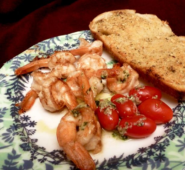 Parmesan Shrimp With Basil Dressing