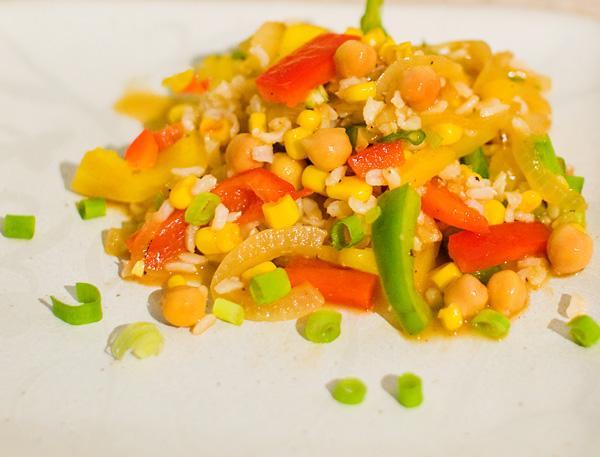 Rice Chickpea Salad