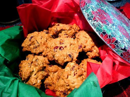 Cranberry Pecan Oat Cookies