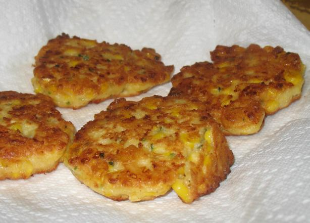 Cheesy Corn Fritters