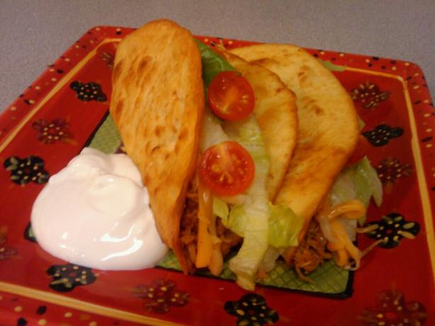 Chicken Puffy Tacos