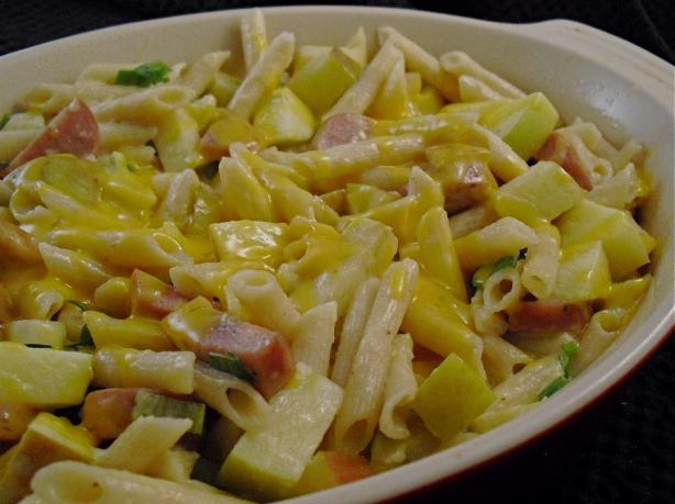 Kielbasa and Apple Pasta Bake