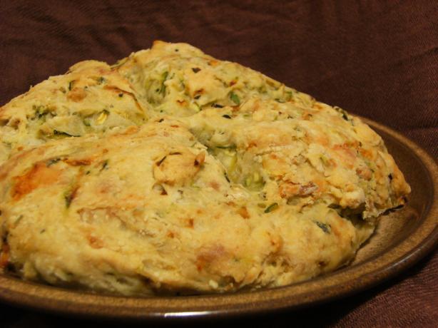 Garlic Zucchini Damper Bread
