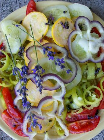 Vegetable Platter With Lavender Vinaigrette