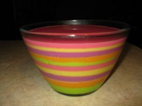 Striped Jello Dessert