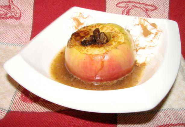 Almost Instant Baked Apple