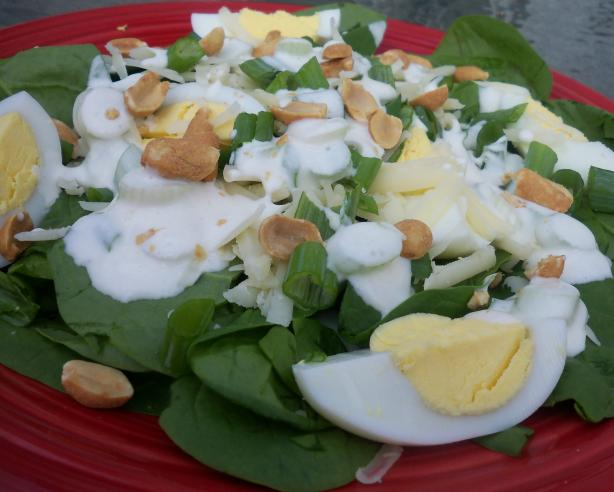 Spinach Salad With Yogurt Dressing